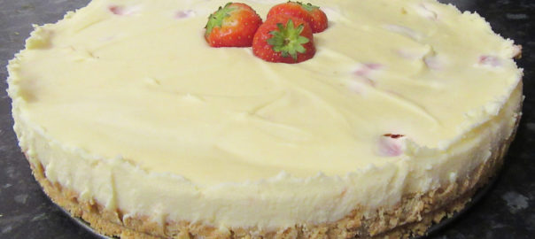 No Bake White Chocolate Cheesecake Officially Shamsa